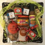 Wow this one will really appeal to the chilli lovers! If your gift recipient LOVES hot food, send them this hamper! Hot Chilli Sauce, Harissa, Coconut Chilli Sauce Spicy Salsa, Chilli Spice pack, Chilli/Paprika crackers, Chilli Mustard and Fiery Chilli Chutney!