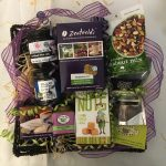 Wild About Byron is a gourmet hamper full of wild foods. From Byron-grown coffee to lemon myrtle fudge, chutney, mustard, Davidson Plum fruit jelly, trail mix and chocolate coffee beans - an Australian natives hamper of delight.